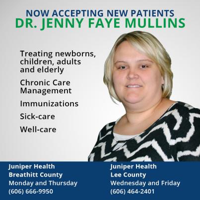 Dr. Jenny Mullins Joins Juniper Health